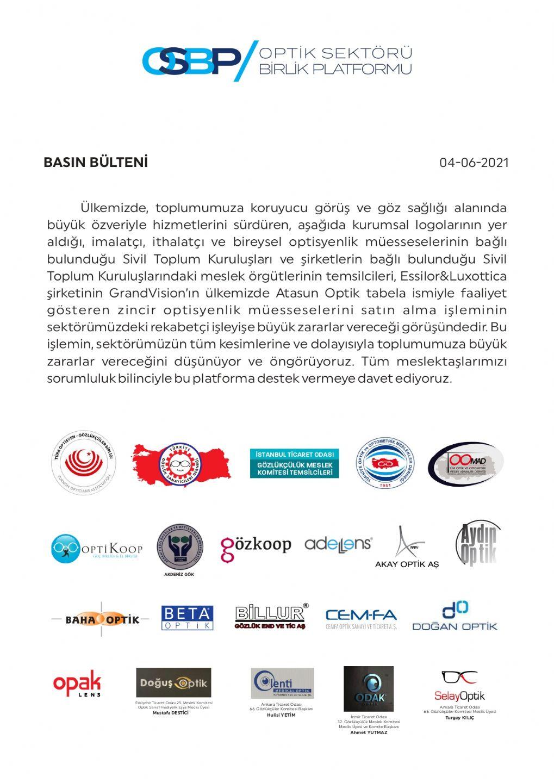 Optik Sektörü Birlik Platformu Hakkında