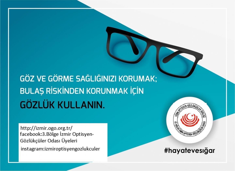 Göz Görme Sağlığınızı Korumak İçin Bulaş Riskinden Korunmak İçin Gözlük Kullanın